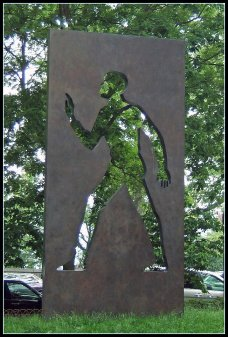 Invisible Man Sculpture, Harlem, NY - Tony Fischer