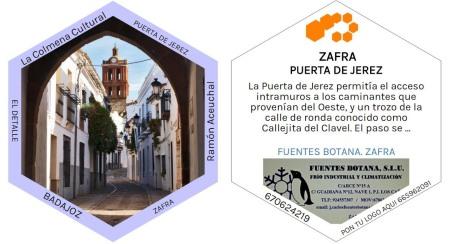 Parte delantera y trasera de una de las celdas de la colmena. Arco Jerez, Zafra (Badajoz)