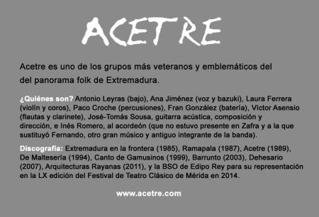 ACETRE_más info